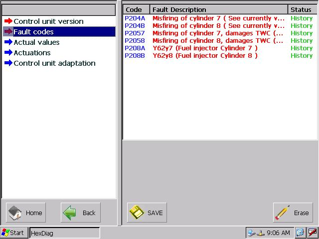 Autohex Scan Tool Mercedes Benz Read And Erease Fault Codes