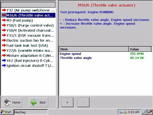 AutoHex Diagnostic Scan Tool: Mercedes Benz Actuation Tests