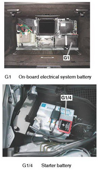 On-board electrical system battery